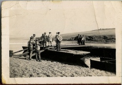 Territorial Royal Engineer Bridging Squadron on Chesil beach, Dorset in 1934