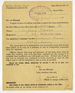 Missing notification 1940